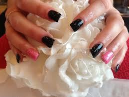 eye candy nails u0026 training full set of acrylic nails with black