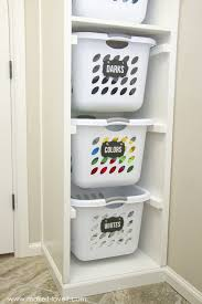 laundry basket organizer built in make it and love it