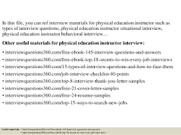 top 10 physical education instructor interview questions and answers