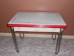 vintage enamel kitchen table vintage white w red trim enamel porcelain leaf kitchen table w