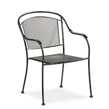 Stackable Mesh Patio Chairs by Shop Garden Treasures Davenport Black Steel Stackable Dining Chair