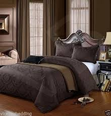Super King Size Duvet Covers Uk Chocolate Brown Super King Size Duvet Cover U0026 Pillowcase Bedding