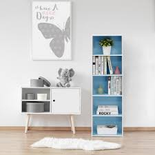 origami 6 tier folding multipurpose bookcase in white rb 03 the