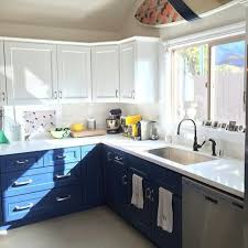 Navy Blue Kitchen Decor by Charming Blue Kitchen Cabinets Beautifully Colorful Painted