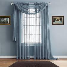 warm home designs slate window scarves u0026 sheer slate blue curtains