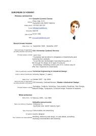 cv format resume top cv resume sle pdf best curriculum vitae format exle of a