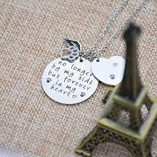 Hand Stamped Necklace O Riya Loss Of Pet Necklace Dog Cat Hand Stamped Jewelry Pet