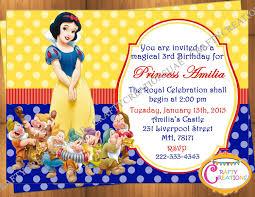 snow white invitation snow white birthday party invitation