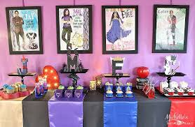 wicked themed events how to plan a disney descendants watch party michelle s party plan it