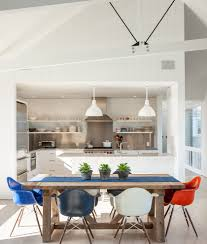 white cabana dining room beach style with natural light natural