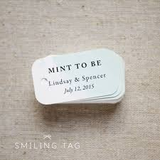 mint to be wedding favor tags personalized gift tags