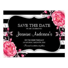 save the date birthday cards custom birthday save the date postcards zazzle co uk