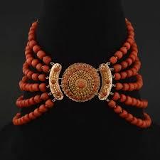 coral necklace antique images Antique coral necklace antique dutch six strand red coral necklace jpg
