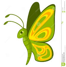funny cartoon tropical butterfly royalty free stock images