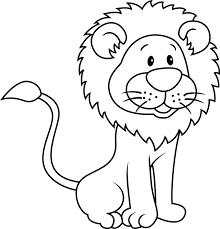 coloriage lion les beaux dessins de animaux à imprimer et colorier
