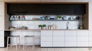 Kitchen Shelves Vs Cabinets Black White U0026 Wood Kitchens Ideas U0026 Inspiration