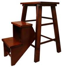 Free Wooden Step Stool Plans by Antique Wood Folding Step Ladder Stool Blue Step Stools