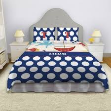 Polka Dot Comforter Queen Little Boys Nautical Bedding Kids Bedding Set Sailboat Comforter