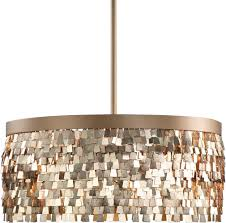 Drum Light Pendant Uttermost 22064 Tillie Modern Textured Gold Drum Pendant L