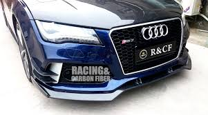 audi rs7 front aliexpress com buy rs7 r front splitter canards set abt style