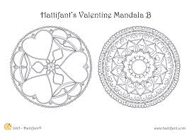 hattifant u0027s valentine mandala colouring pages hattifant
