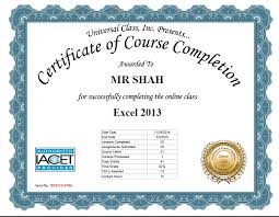universal online class universal class i excel 2013 course with flying colours hem