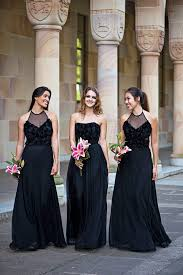 Pink And Black Bridesmaid Dresses This Is Kinda What Jake Wants Balck And Pink Brides Maids Dresses