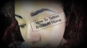 how to henna tint tattoo your eyebrows at home youtube