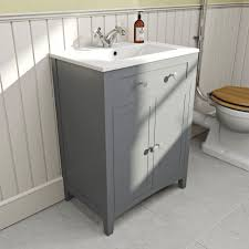 Shaker Style Bathroom Cabinet by 600 Traditional Grey Shaker Style Floor Standing Vanity Unit