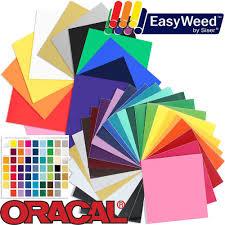 oracal 651 vinyl and siser easyweed heat transfer starter kit