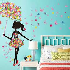 sticker mural chambre fille décorez la chambre fille de stickers muraux originaux