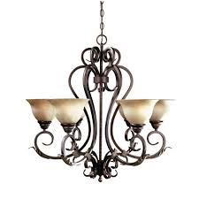 Home Depot Bronze Chandelier World Imports Olympus Tradition Collection 6 Light Crackled Bronze