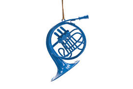 blue horn ornament inspired by how i met your