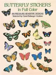 butterfly stickers in color pressure sensitive designs