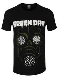 spirit halloween gas mask green day t shirt gas mask offical band merch buy online at