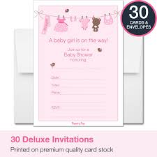 amazon com 30 baby shower invitations with envelopes