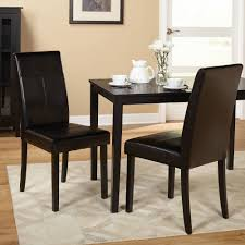 Leather Parson Dining Chairs Faux Leather Parson Dining Chair Set Of 2 Ebay