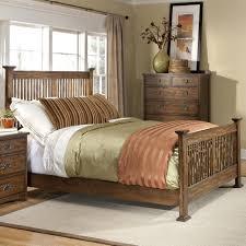 Modus Yosemite Bedroom Set Intercon Oak Park Complete Queen Standard Slat Bed Old Brick