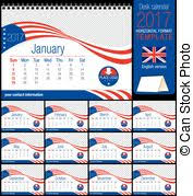 clipart vector of 2017 calendar usa flag 2017 calendar in