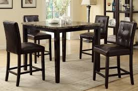 High Dining Room Sets Counter Height Dining Table And 4 High Chairs By