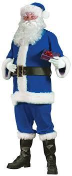 santa suit buy blue santa suit large costume