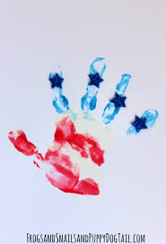 Kids Handprint Crafts Flag Handprint Craft Fspdt