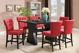 Red Dining Table by Chair Black Dining Table With Red Ladder Back Chairs Lightly