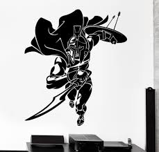 Sell Home Decor Products Wall Vinyl Decal Sparta Spartan Warrior Soldier Fighting Home