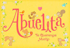 little animals spanish language mother u0027s day card for grandma