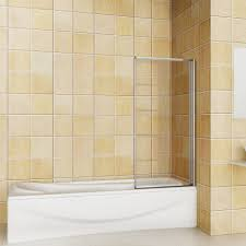 aica pivot hinge folding screen over bath shower door panel 1400mm pivot bath screen