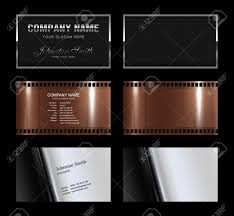 set of 3 detailed business card template plus 3 blank template