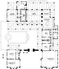 house plans courtyard pool