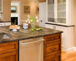 Antique Butcher Block Kitchen Island Granite Countertop White Kitchen Cabinets Modern Glass Panel