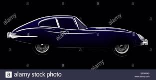 vintage cars drawings illustration line drawing of an e type jaguar fixed head coupe a